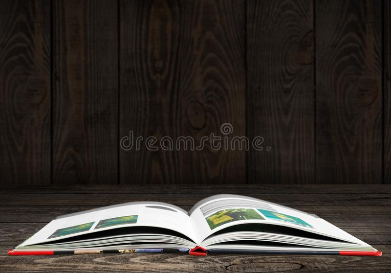 Open book. Studying literature wallpaper wisdom spark mystery royalty free stock images