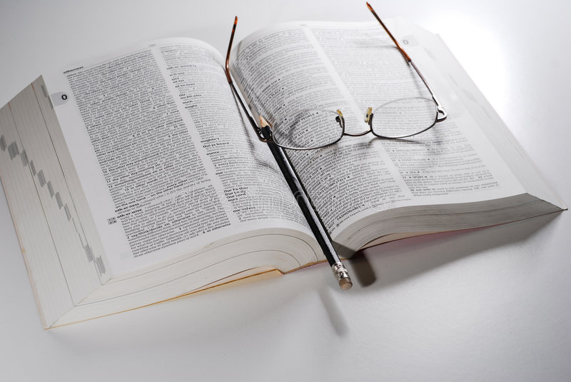 Download Open book on a table stock image. Image of dictionary - 3510151