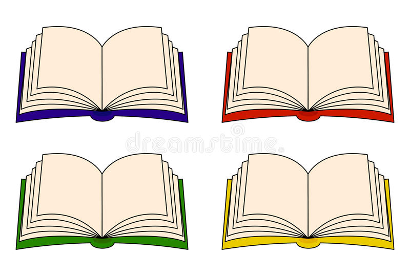 Open book vector clipart set, symbol, icon design. Illustration isolated on white background. Open book vector clipart set, symbol, icon design. Illustration stock illustration