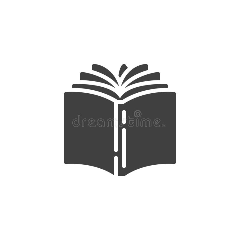Open book vector icon stock illustration