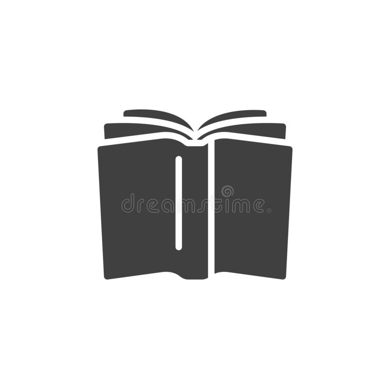 Open book vector icon royalty free illustration