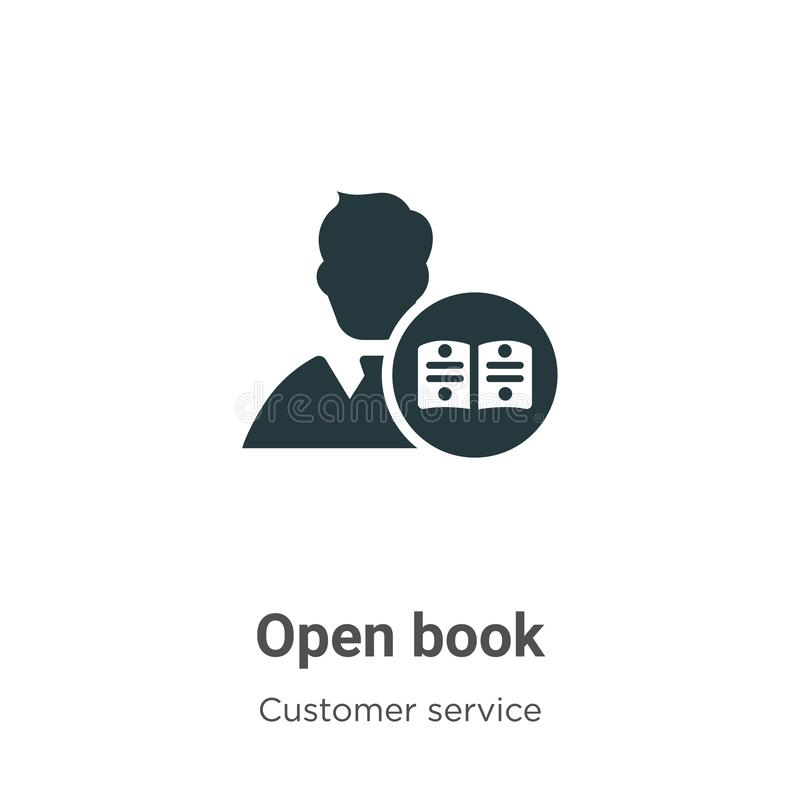 Open book vector icon on white background. Flat vector open book icon symbol sign from modern customer service collection for stock illustration