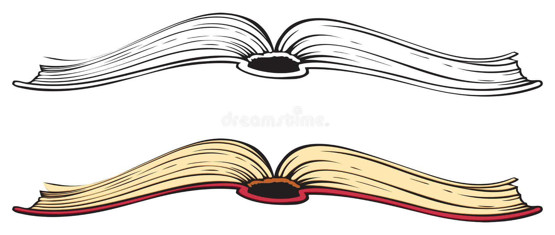 Open book. Vector sketch stock illustration