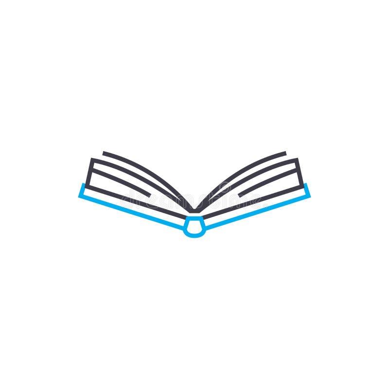 Open book vector thin line stroke icon. Open book outline illustration, linear sign, symbol concept. stock illustration