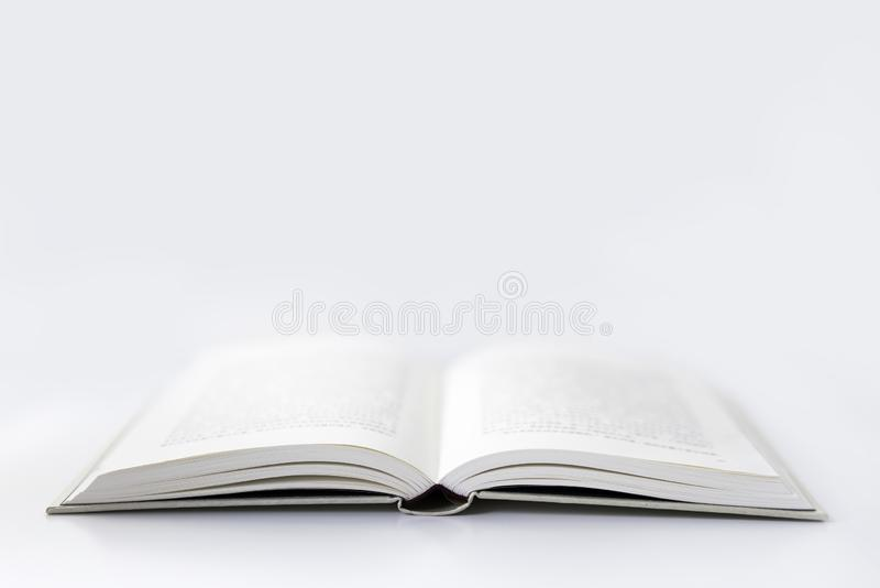 An Open Book in White Background stock photos