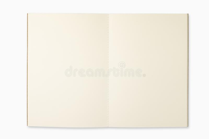 Open book on white isolated background stock photo