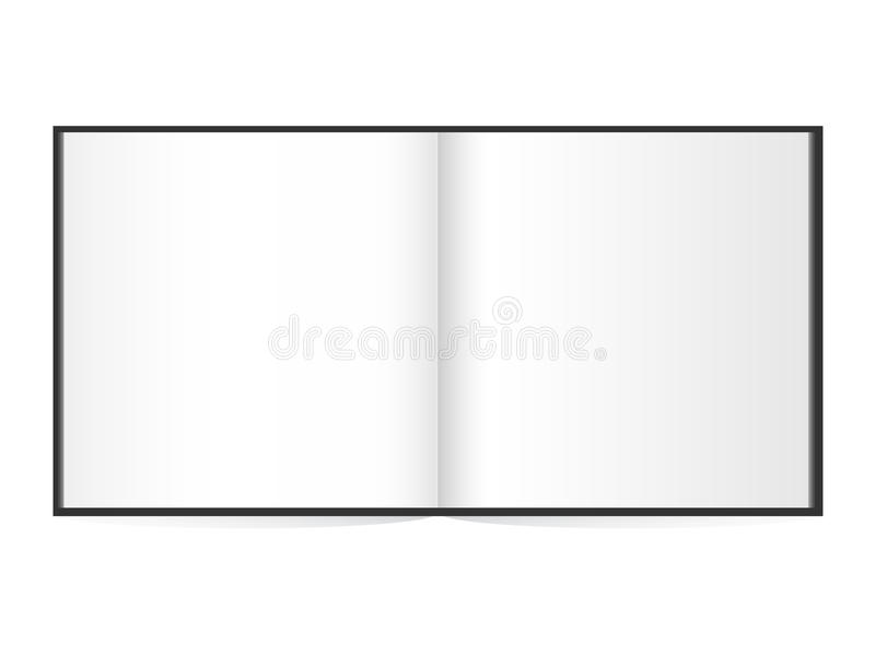 Open book with white pages. Illustration on white royalty free illustration