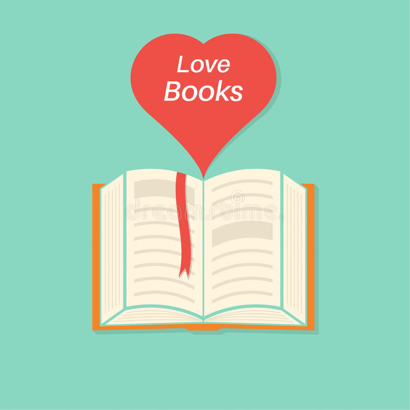 Free Open Book With A Bookmark And Heart Royalty Free Stock Image - 68315896