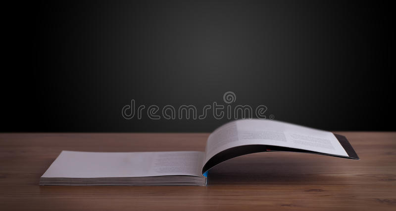 Download Open book on wooden deck stock image. Image of object - 33624463