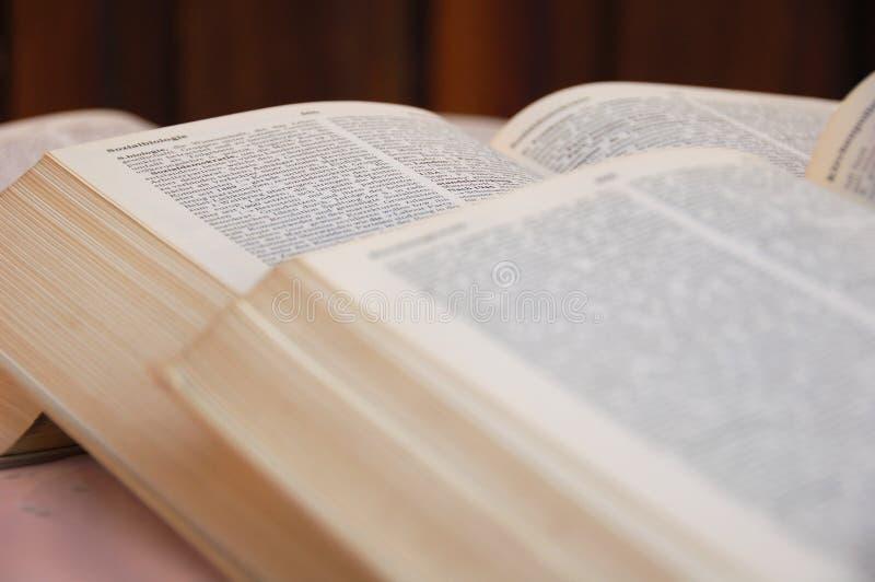 Open books stock image