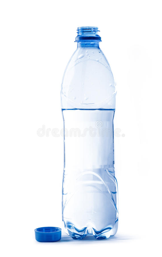Open bottle of water. Open plastic bottle of water stock photography