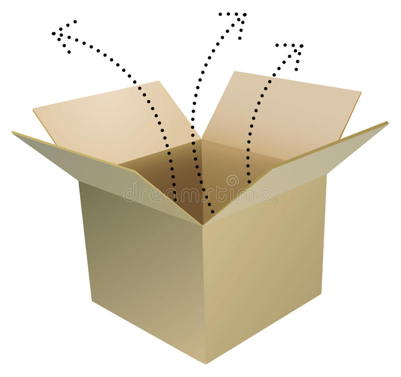Download Open box stock vector. Image of open, parcel, exploding - 12177254