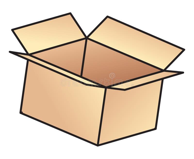Open box royalty free illustration