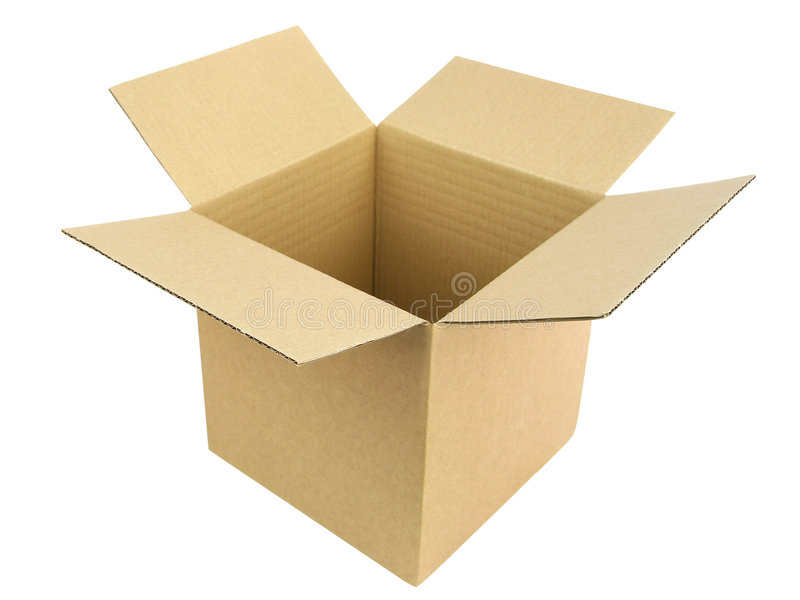 Open box. An open cardboard box