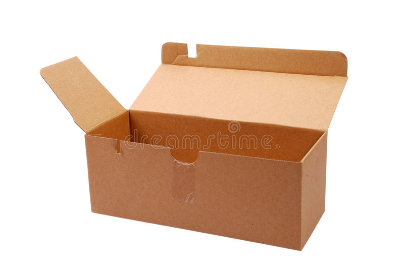 Open box. An open box with isolated background royalty free stock image