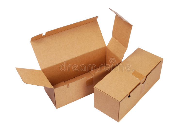 Open box. An open box with isolated background royalty free stock images