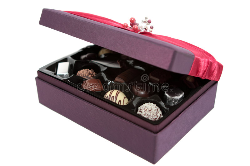 Download Open Box of Chocolates stock photo. Image of candies, closeup - 5592746