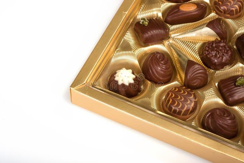Open box with chocolates