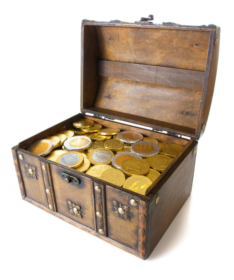 Free Open Box Full With Money Royalty Free Stock Photos - 18015338