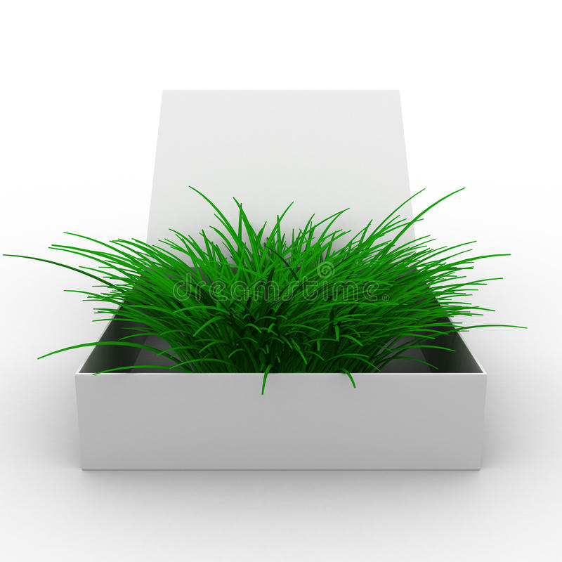 Download Open box with grass stock illustration. Image of inside - 15343736