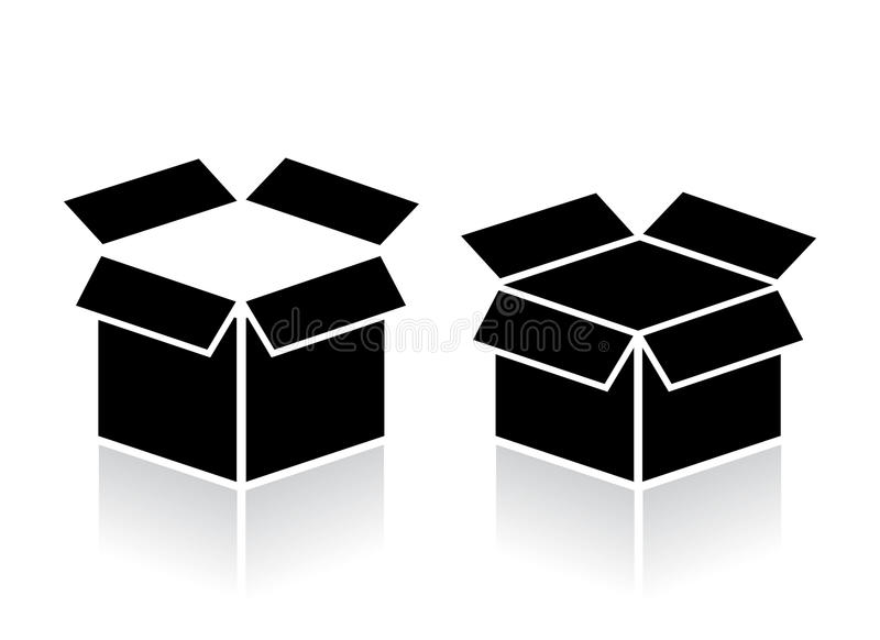 Open box icon vector illustration