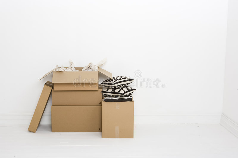 Open box with paper royalty free stock image