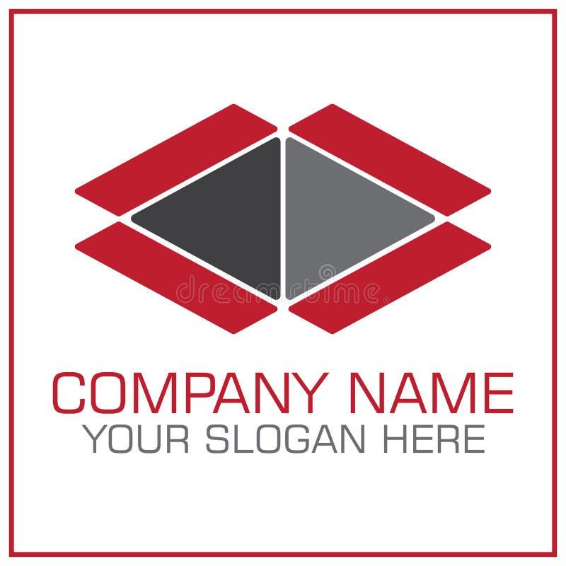 Open Box Vector Logo For Moving / Transportation Company royalty free illustration