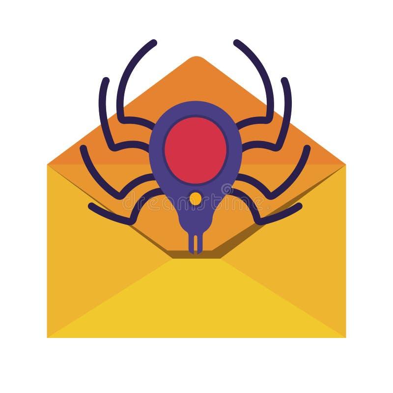Open brief geïsoleerde pictogrammen vector illustratie