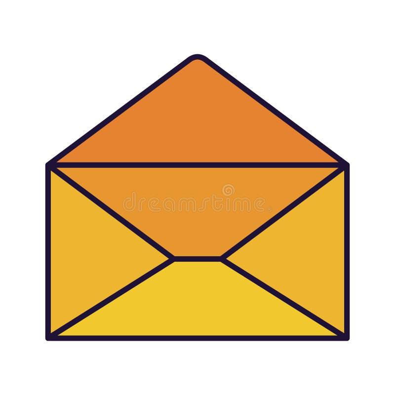 Open brief geïsoleerde pictogrammen royalty-vrije illustratie