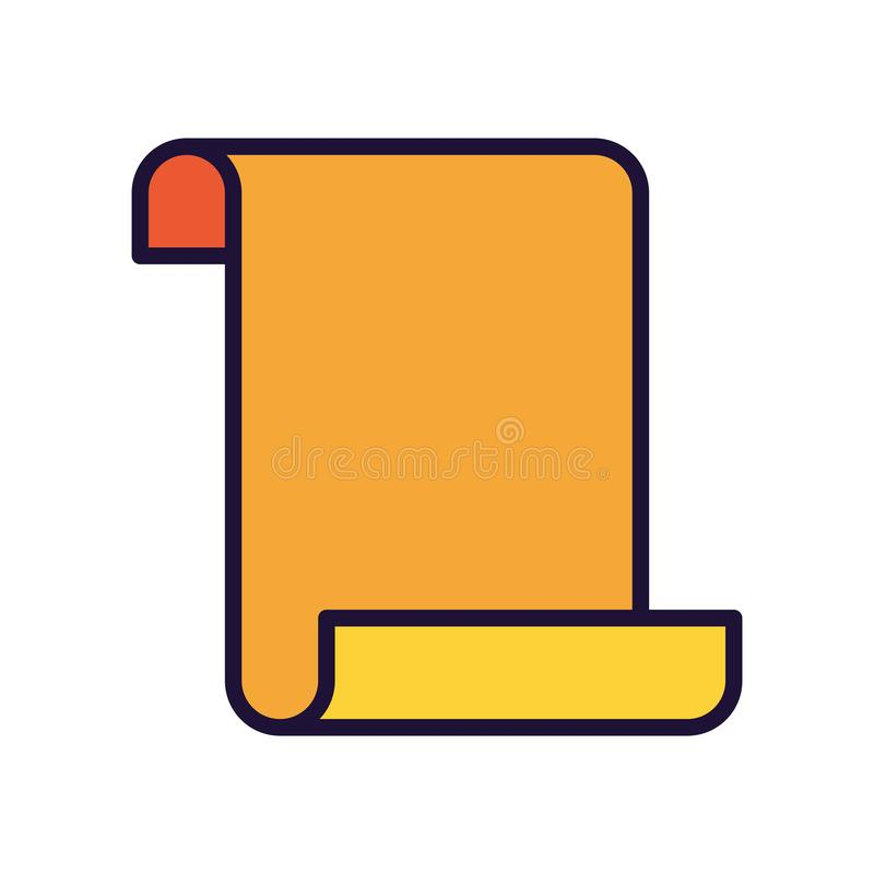Open brief met geïsoleerde pictogrammen stock illustratie