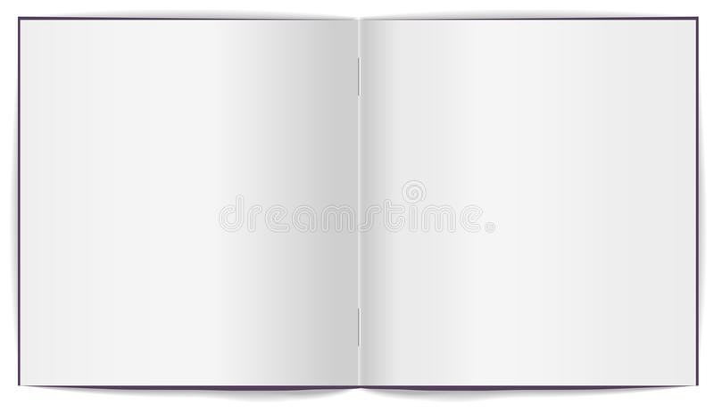 Open brochure met witte schone bladen royalty-vrije illustratie