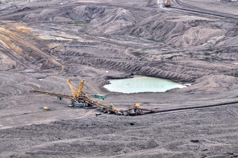 Open bruinkool - gegoten mijnbouw royalty-vrije stock foto