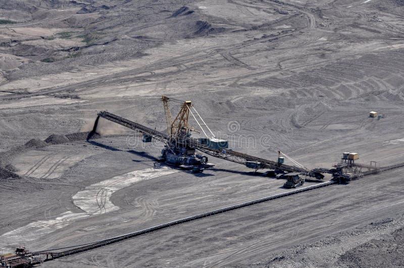 Open bruinkool - gegoten mijnbouw stock afbeeldingen