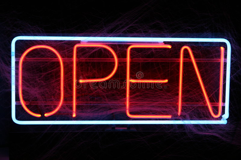 Open for Business stock images