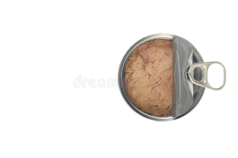 Open Canned tuna stock photo