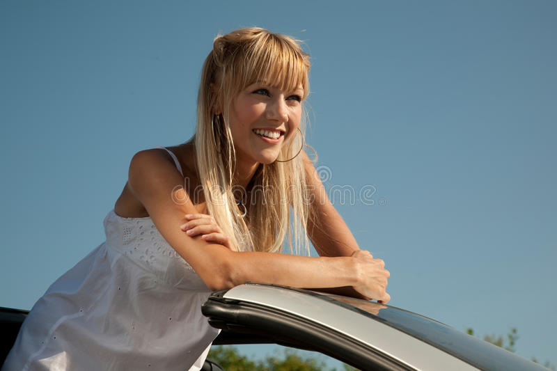 Download Open car stock photo. Image of cheerful, hand, road, hair - 28117420