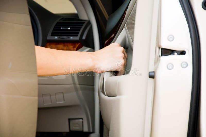 Open car door royalty free stock photo