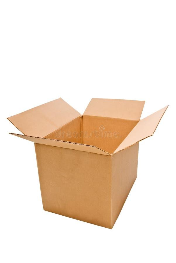 Download Open Cardboard Box stock image. Image of transit, white - 18957177