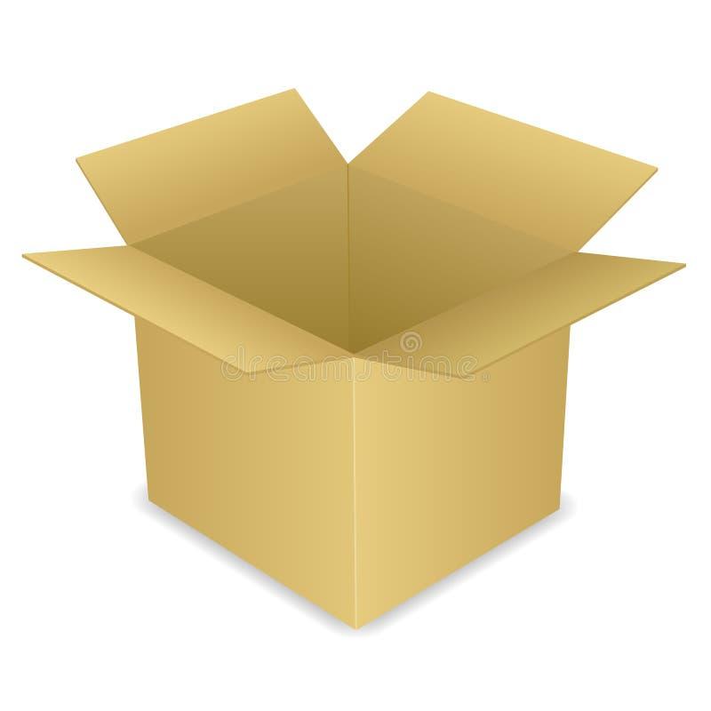 Open Cardboard Box EPS