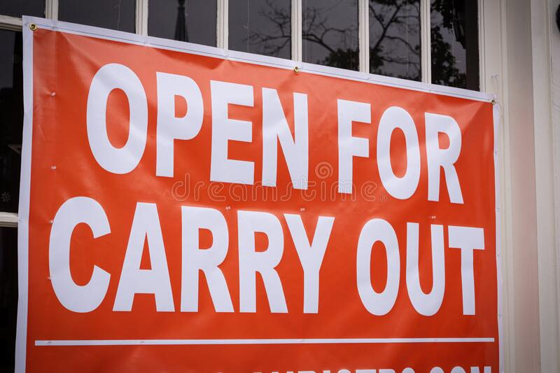Carry Out Sign royalty free stock photography