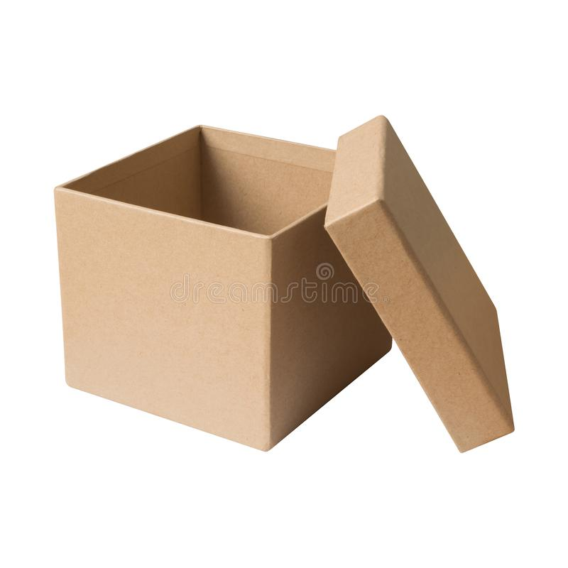 Free Open Carton Cardboard Paper Box Brown Color Isolated On White Ba Royalty Free Stock Photography - 133847197