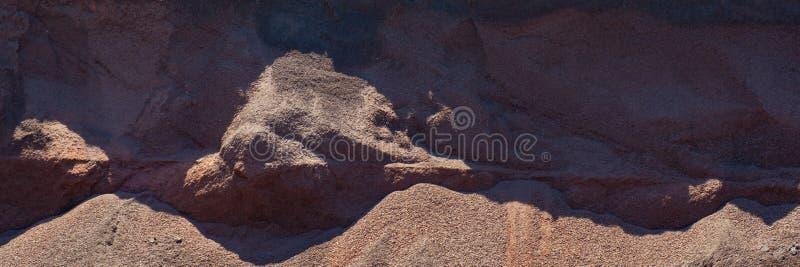 Open-cast iron ore storage, mining stock photography
