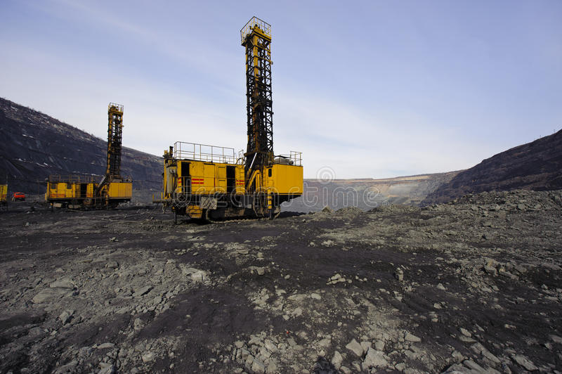 Download Open-cast Mine, Extraction Of Iron Ore Stock Image - Image: 15195071
