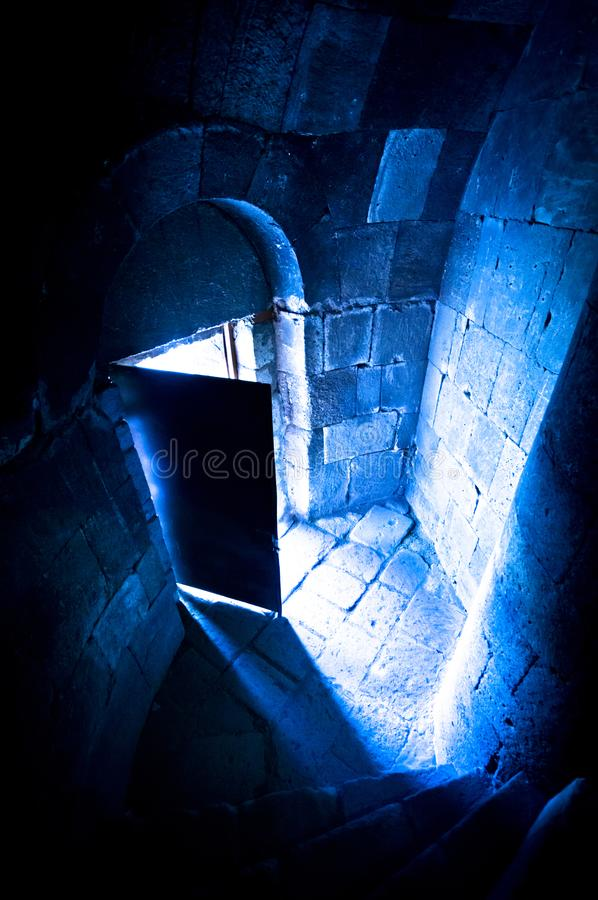 Open Castle Door. Photo of Open Castle Door stock photo