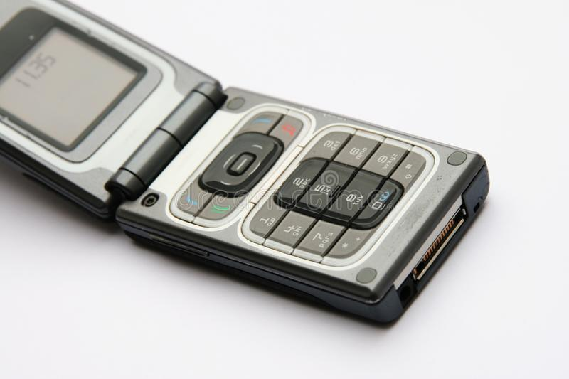 Open cell phone stock photo