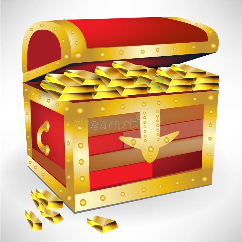 Open chest with golden treasure