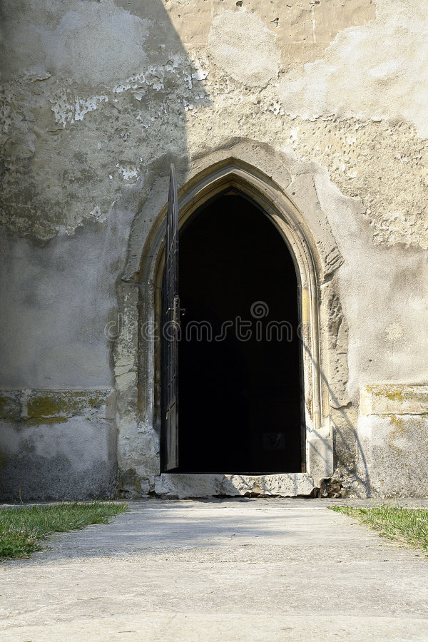 Open church door royalty free stock images
