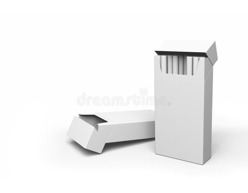 Open cigarette packs royalty free illustration