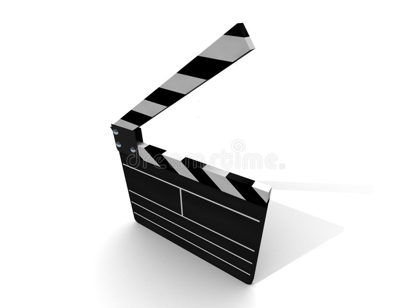 Open Clapperboard Stock Photography