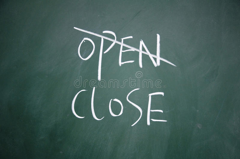 Download Open and close choice stock image. Image of text, open - 24781551